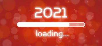 Concept of the year 2021 loading on screen.